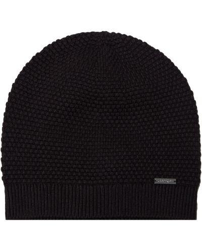 Кашемировая шапка - черная Calvin Klein