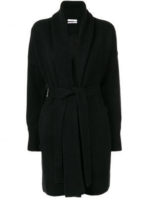Черное пальто с манжетами Co