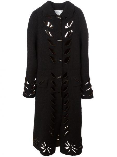 Прямое пальто классическое с капюшоном с воротником Christian Dior Pre-owned