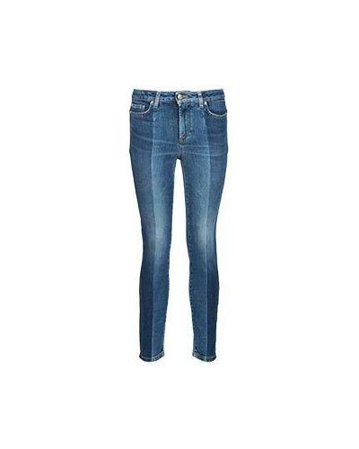 Джинсы-скинни синие Versace Collection