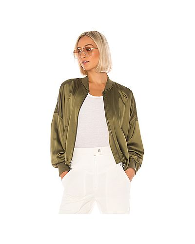 Куртка на молнии зеленая Bb Dakota