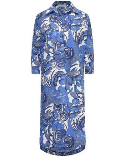 Хлопковое платье - синее Tak.ori