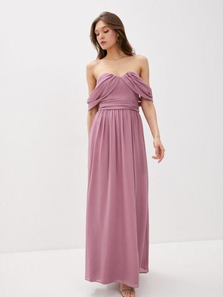 Вечернее платье розовое весеннее Chi Chi London
