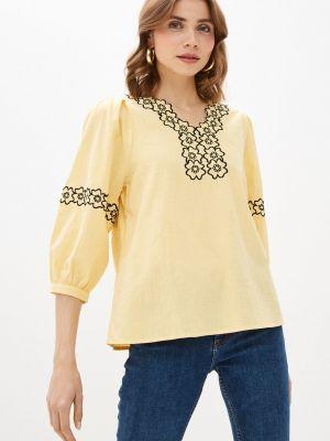 Желтая блузка с длинными рукавами Bruebeck