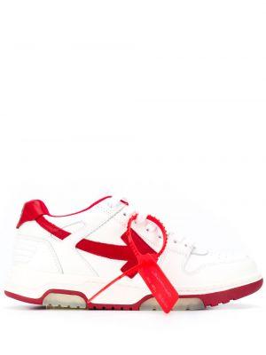 Белые кроссовки на шнуровке с перфорацией Off-white