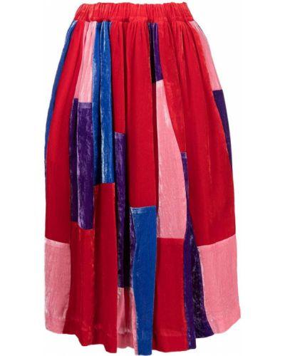 Юбка с завышенной талией - красная Comme Des Garçons Comme Des Garçons
