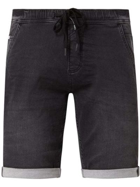 Bawełna bawełna niebieski dżinsowe szorty elastyczny Tom Tailor Denim