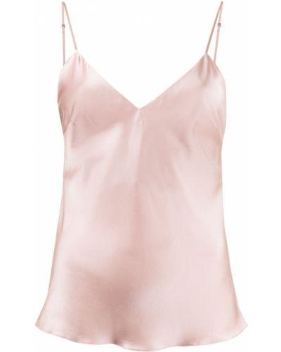 Шелковый розовый топ на бретелях Gilda & Pearl
