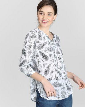Блузка с V-образным вырезом из вискозы Ostin