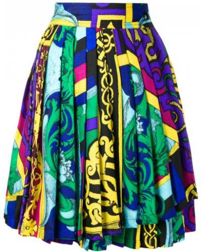 Юбка мини плиссированная винтажная Versace Vintage