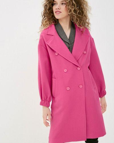 Розовое пальто двубортное Imperial