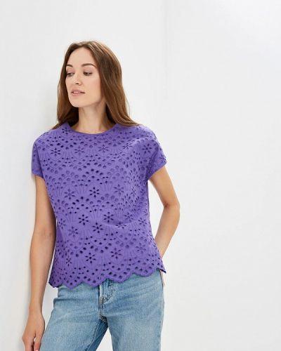 Фиолетовая блузка с коротким рукавом Iwie