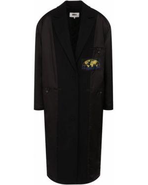 Пальто пальто комбинированный Mm6