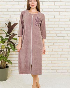 Халат велюровый короткий Lika Dress