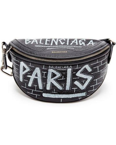 Кожаная сумка поясная на цепочке Balenciaga