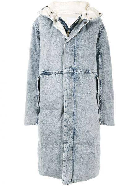 Хлопковое пальто с капюшоном на молнии айвори с капюшоном Toga Pulla