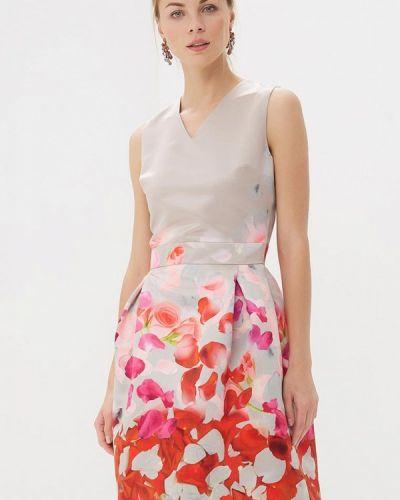 Бежевое платье-футляр Lolita Shonidi