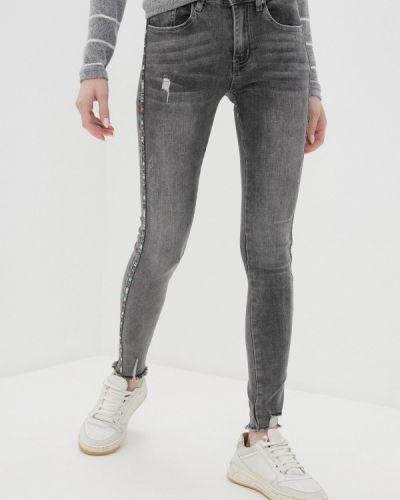 Серые джинсы-скинни узкого кроя Haily's