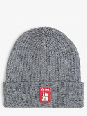 Szara czapka Derbe