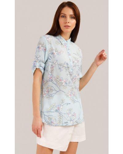 Блузка с коротким рукавом голубой Finn Flare