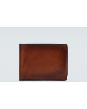 Klasyczny brązowy portfel skórzany Berluti