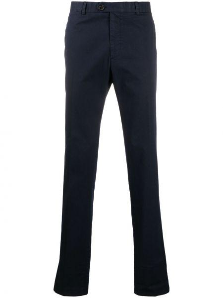 Синие прямые брюки с карманами Ralph Lauren Purple Label