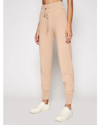 Brązowe spodnie materiałowe Kontatto