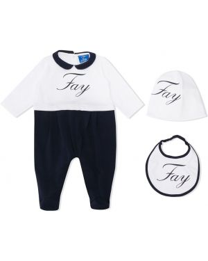 Пижама белая черный Fay Kids