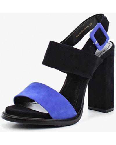 Синие босоножки на каблуке Calipso