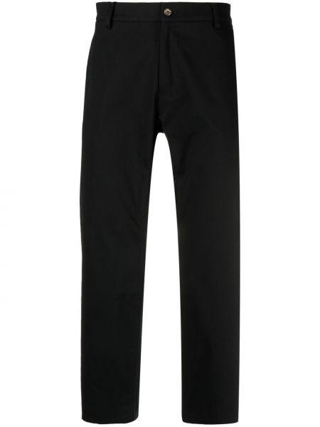 Czarne spodnie bawełniane z paskiem Omc