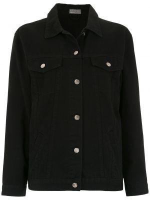 Черная джинсовая куртка с манжетами на пуговицах Amapô