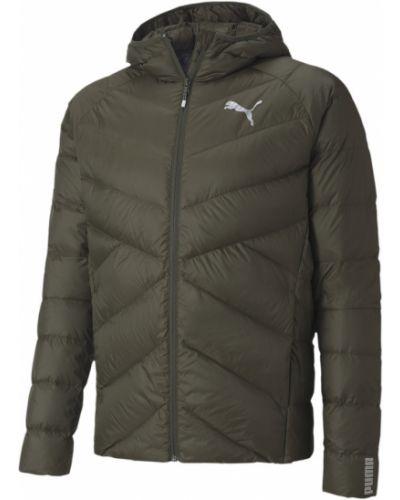 Зеленая зимняя куртка Puma