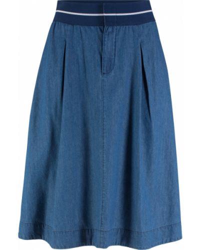 Синяя джинсовая юбка на резинке Bonprix