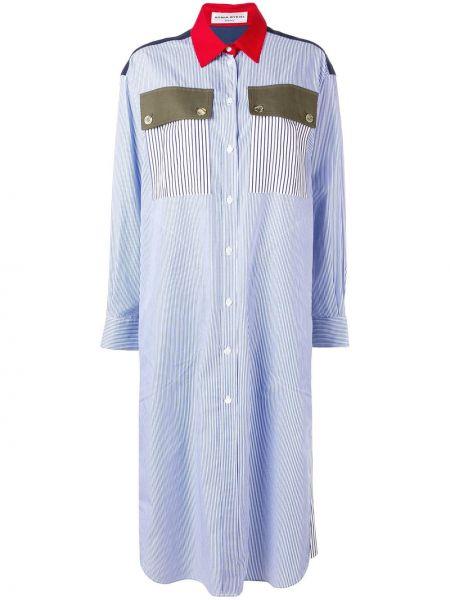 Платье миди на пуговицах - синее Sonia Rykiel