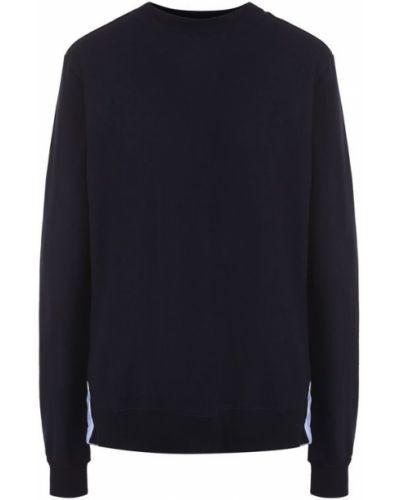 Синий свитер трикотажный Clu