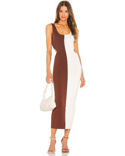 Платье из вискозы - коричневое Ronny Kobo
