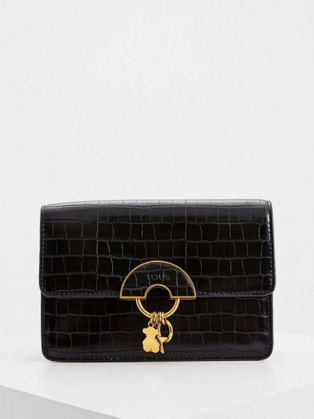 Кожаная сумка через плечо черная Tous