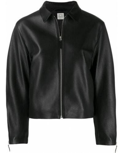 Прямая черная куртка Toteme