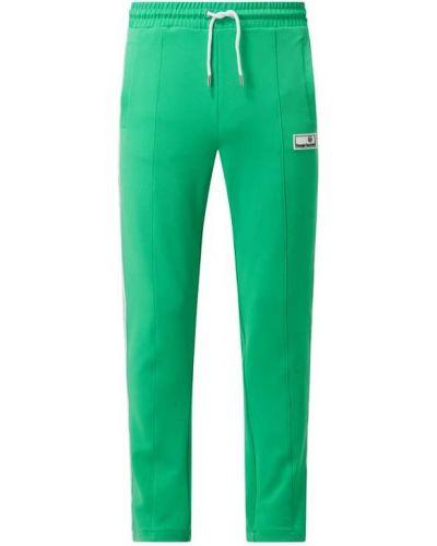 Zielone spodnie w paski Sergio Tacchini