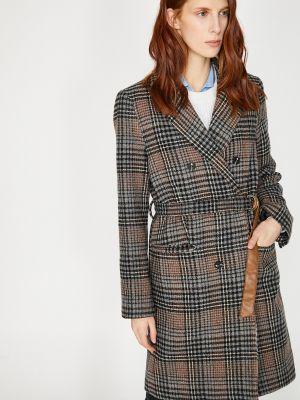 Płaszcz wełniany - brązowy Koton