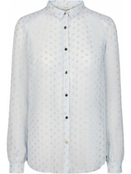 Мерцающая рубашка с воротником с длинными рукавами с рисунком NÜmph