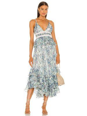 Кружевное белое вечернее платье на молнии Rococo Sand