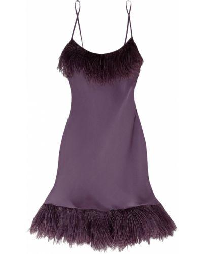 Satynowa koszula nocna - fioletowa Carine Gilson