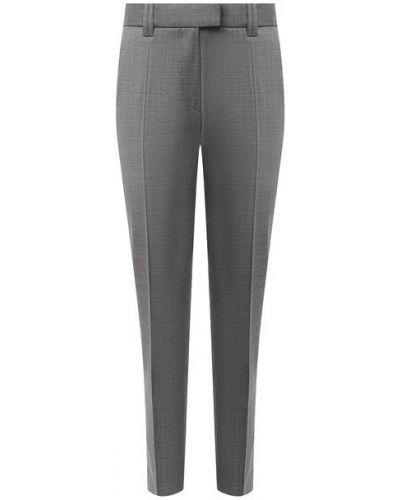 Со стрелками шерстяные серые укороченные брюки Barbara Bui