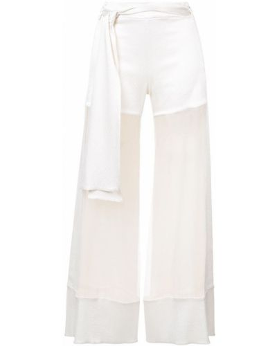 Бежевые брюки прозрачные Haney