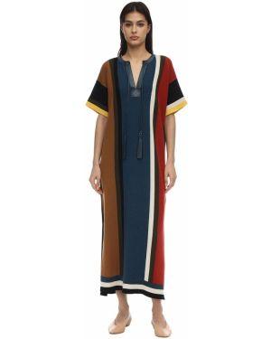 Платье вязаное с V-образным вырезом Salvatore Ferragamo