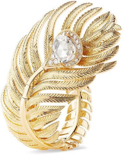 Żółty złoty pierścionek z diamentem Boucheron