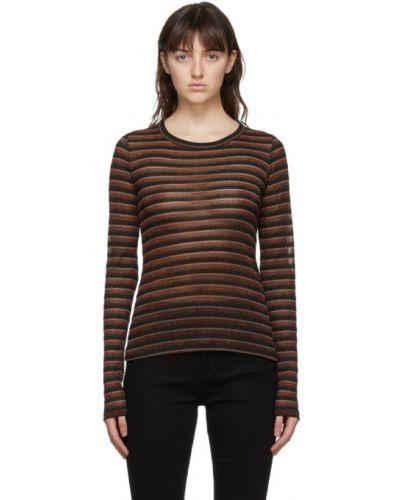 Черная рубашка с длинными рукавами в полоску Rag & Bone
