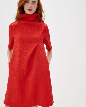Платье прямое красный мадам т