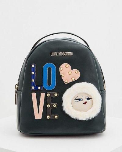 Зеленый рюкзак Love Moschino